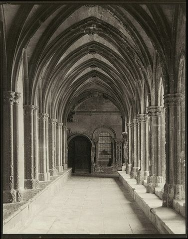 Cloister at St. Trophime Abbey, Arles, France<br>Platinum Photograph
