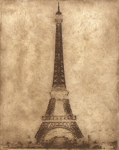 Eiffel Tower<br>Photopolymer Gravure
