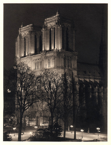 Notre Dame from Shakespeare and Co.<br>Platinum Photograph